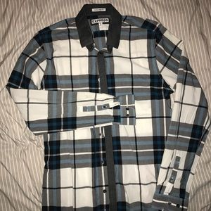 Express plaid dress button-down dress shirt.